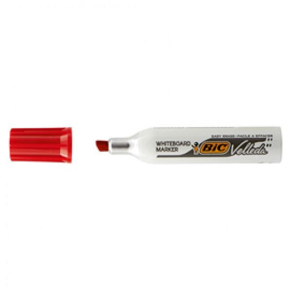 Pennarello Whiteboard Marker Velleda 1781 - punta a scalpello da 3,2 a 5,5mm - rosso  - Bic