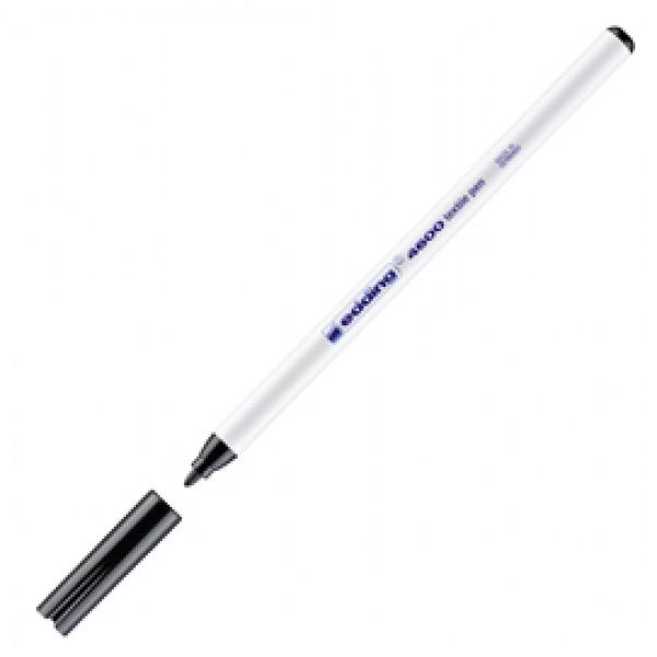 Marcatore per tessuto 4600 - punta tonda 1,00mm - nero - Edding