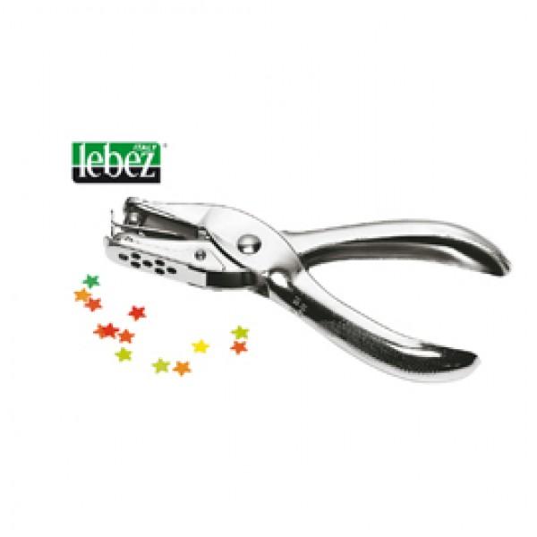 Perforatore a un foro Lebez - 6 fogli - argento - 5820