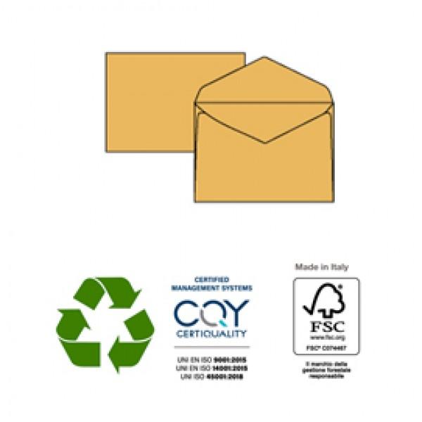 Busta gialla senza finestra - serie Giallo Postale - 180x240 mm - 80 gr - Pigna - conf. 25 pezzi