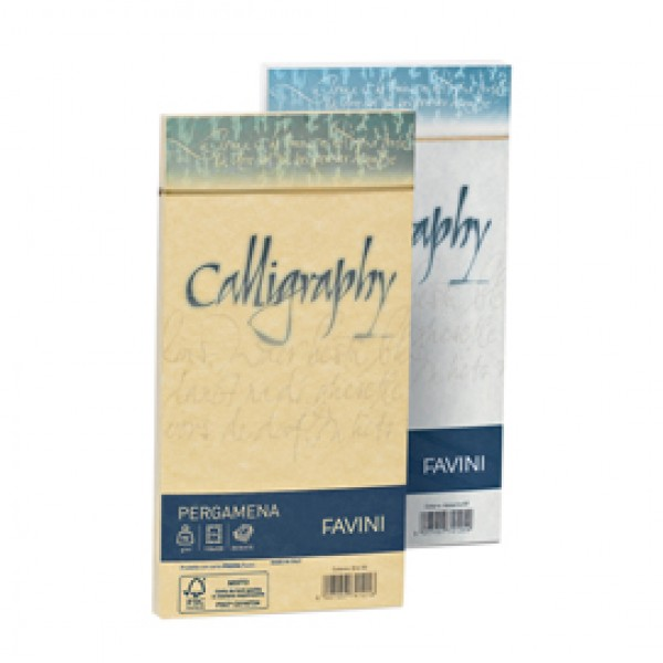 Buste CALLIGRAPHY PERGAMENA 11x22cm 90gr bianco FAVINI (conf.25)