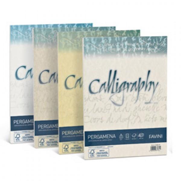 Carta CALLIGRAPHY PERGAMENA 190gr A4 50fg nocciola 04 FAVINI - A69N084