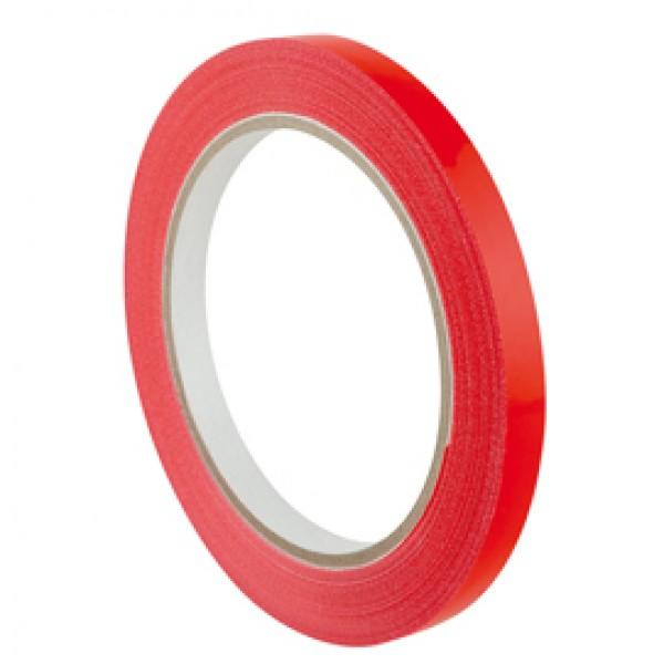 Nastro adesivo PVC 350 - 9 mm - rosso - Eurocel - rotolo da 66 mt