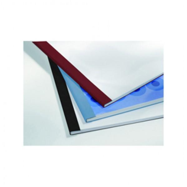 Cartelline termiche Business Line - 4 mm - leather blu - GBC - scatola 100 pezzi