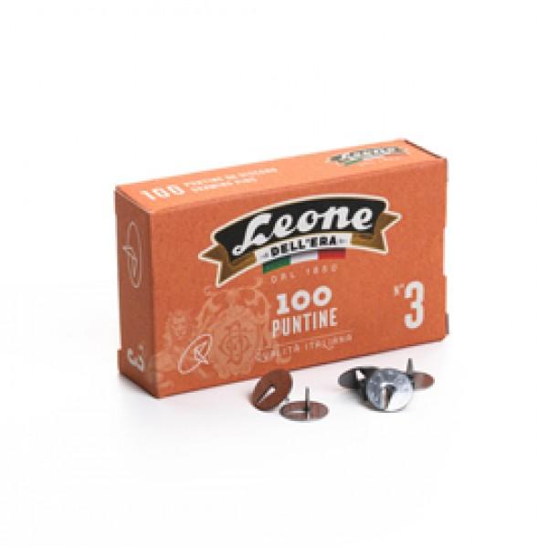 Puntine Astra n.3 - acciaio lucido - Leone - conf. 100 pezzi