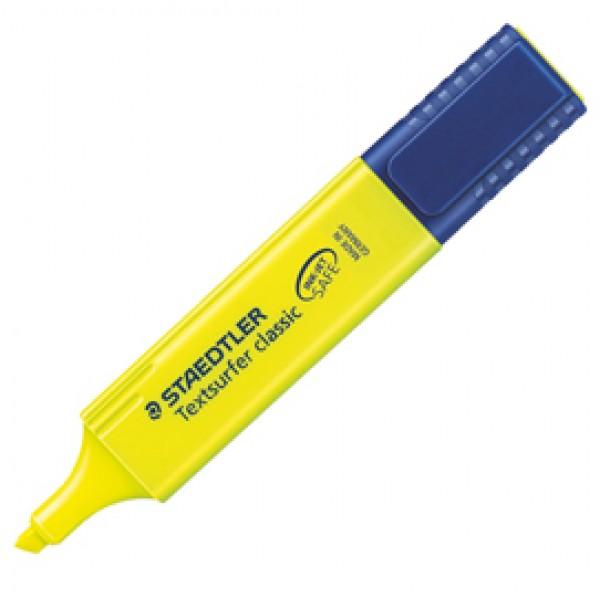 Evidenziatore Textsurfer Classic - punta a scalpello - tratto 1,0-5,0mm - giallo  - Staedtler