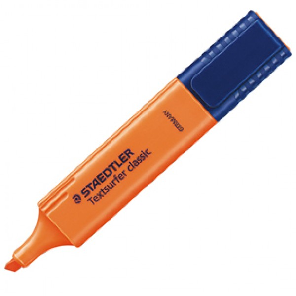 Evidenziatore Textsurfer Classic - punta a scalpello -  tratto 1,0mm-5,0mm - arancio  - Staedtler