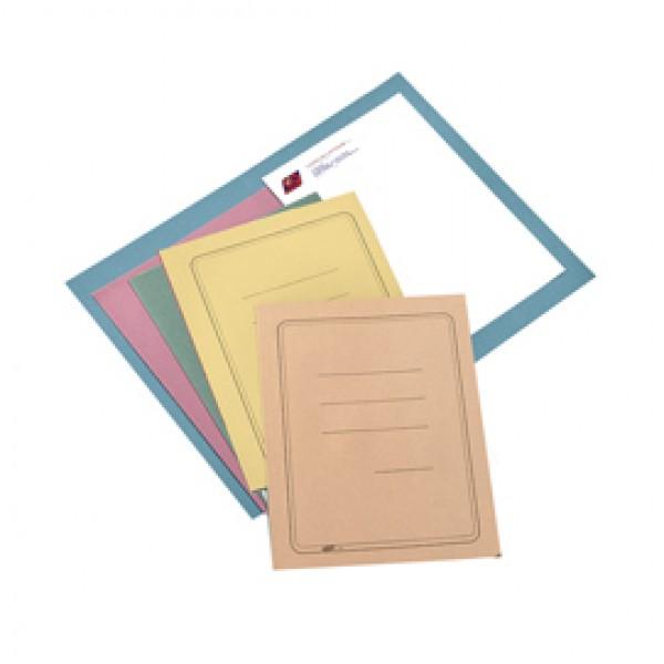 Cartelline semplici - con stampa - cartoncino Manilla 145 gr - 25x34cm - giallo - Cartotecnica del Garda - conf. 100 pezzi