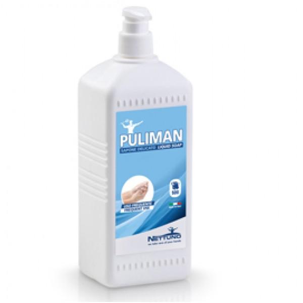 Sapone liquido Puliman - lavanda - Nettuno - flacone dispenser da 1 L