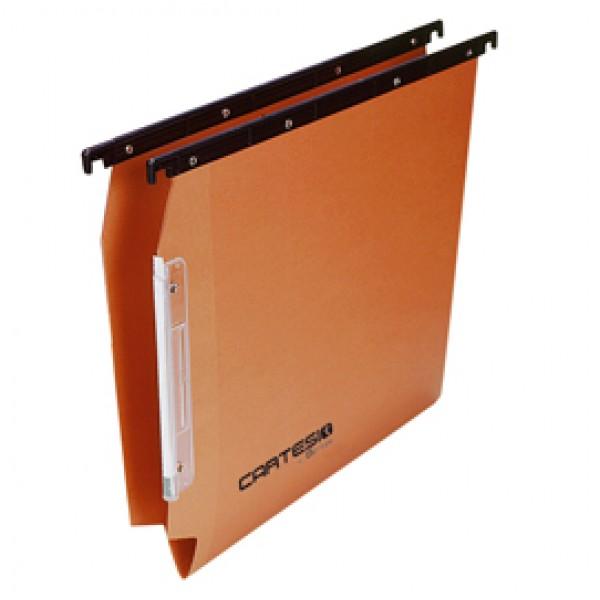 Cartella sospesa Cartesio - armadio - interasse 33 cm - fondo V - 32,6x28 cm - avana -  Bertesi