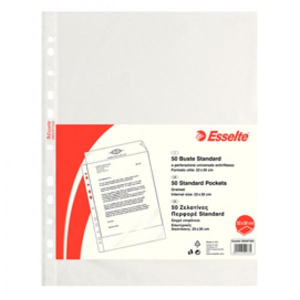 Buste forate CopySafe - Standard - buccia - 22x30 cm - trasparente -  Esselte - conf. 50 pezzi