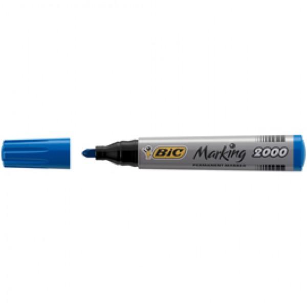 Marcatori permanente Marking a base d'alcool - punta tonda 1,70mm - blu - Bic - conf. 12 pezzi