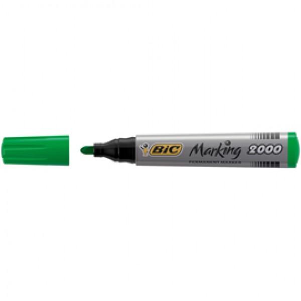 Marcatori permanente Marking a base d'alcool - punta tonda 1,70mm - verde - Bic - conf. 12 pezzi