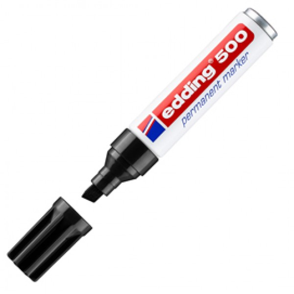 Marcatore permanente Edding 500 - punta da 2,00-7,00mm - nero - Edding