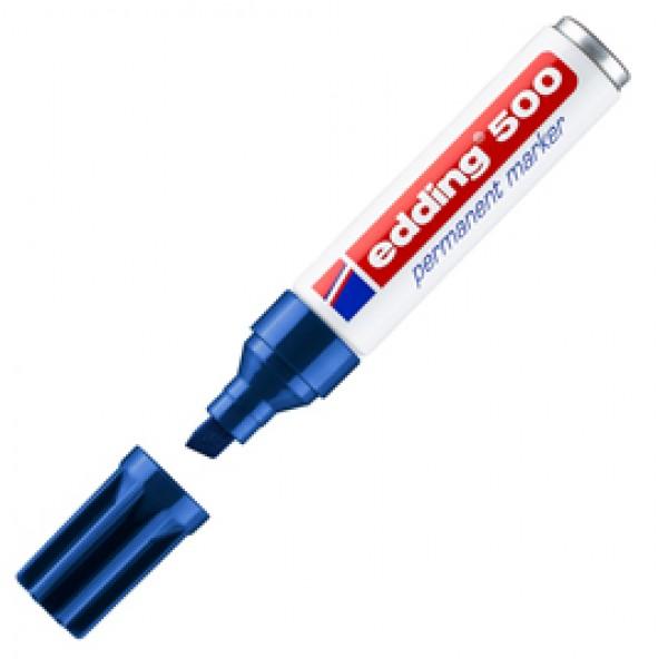 Marcatore permanente Edding 500 - punta da 2,00-7,00mm - blu - Edding