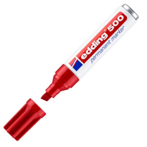 Marcatore permanente Edding 500 - punta da 2,00-7,00mm - rosso - Edding
