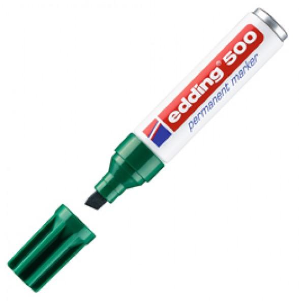 Marcatore permanente Edding 500 - punta da 2,00-7,00mm - verde - Edding