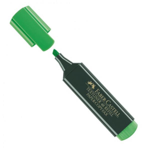 Evidenziatore Textliner 48 -  punta di 3 differenti larghezze: 5,0-3,0mm-1,0mm  - verde - Faber Castell