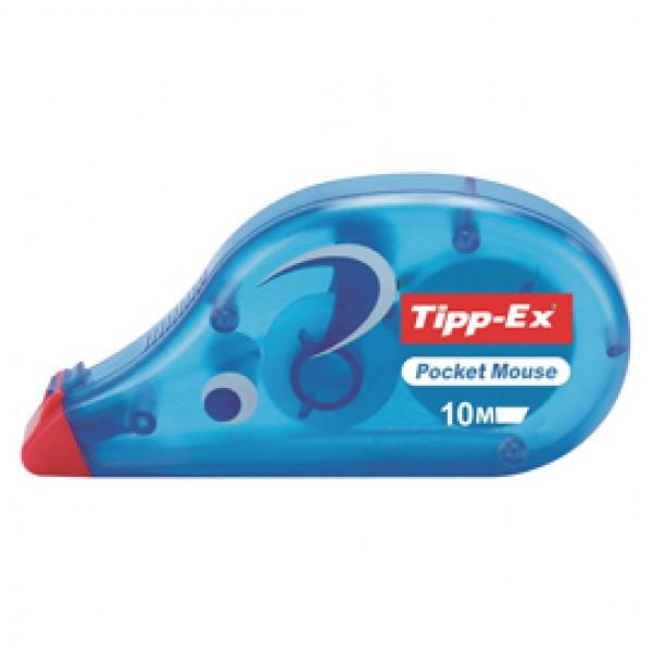 Correttore a nastro Pocket Mouse - 4,2mm x 10mt - Tipp Ex - conf. 10 pezzi