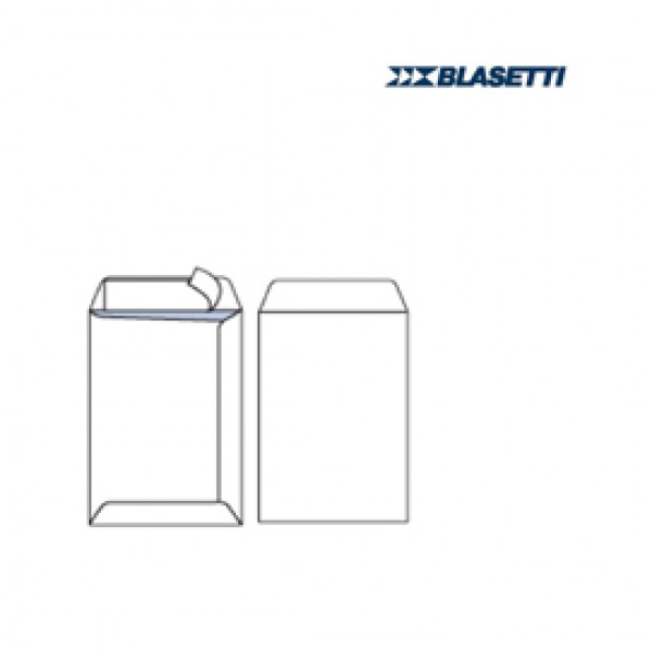 Busta a sacco bianca - serie Mailpack - strip adesivo - 190x260 mm - 80 gr - Blasetti - conf. 25 pezzi