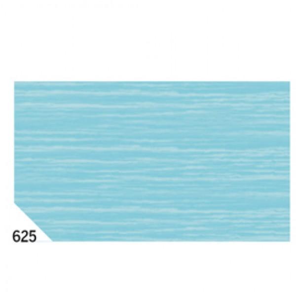 Carta crespa - 50x250cm - 60gr - azzurro 625 - Rex Sadoch - conf.10 rotoli