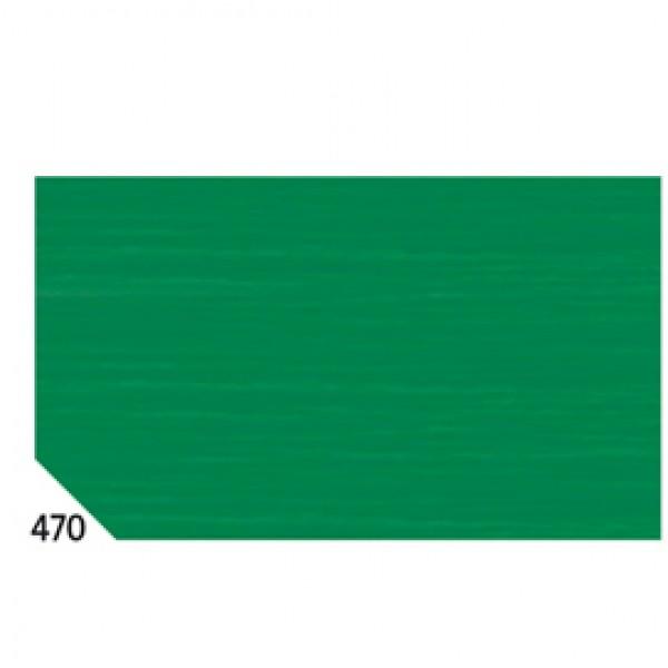 Carta crespa - 50x250cm - 60gr - verde bandiera 470 - Rex Sadoch - conf.10 rotoli