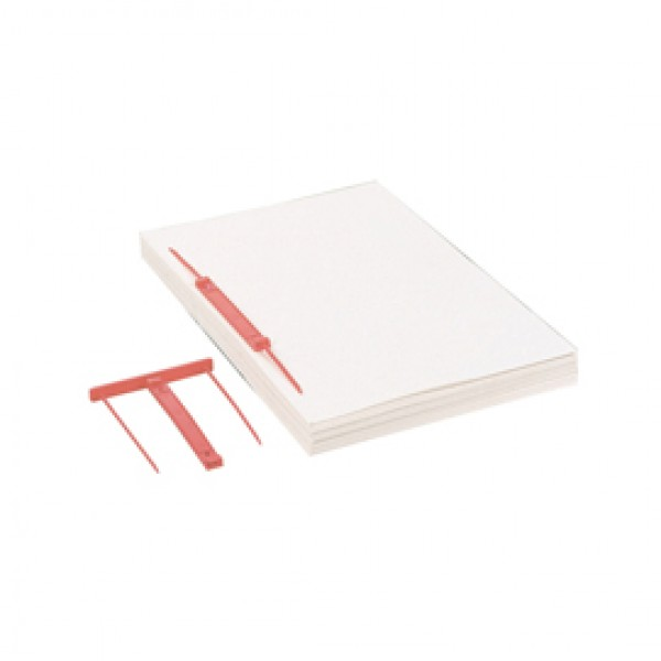 Fastener Capiclass 1 - passo 80 mm - rosso - Favorit - conf. 50 pezzi