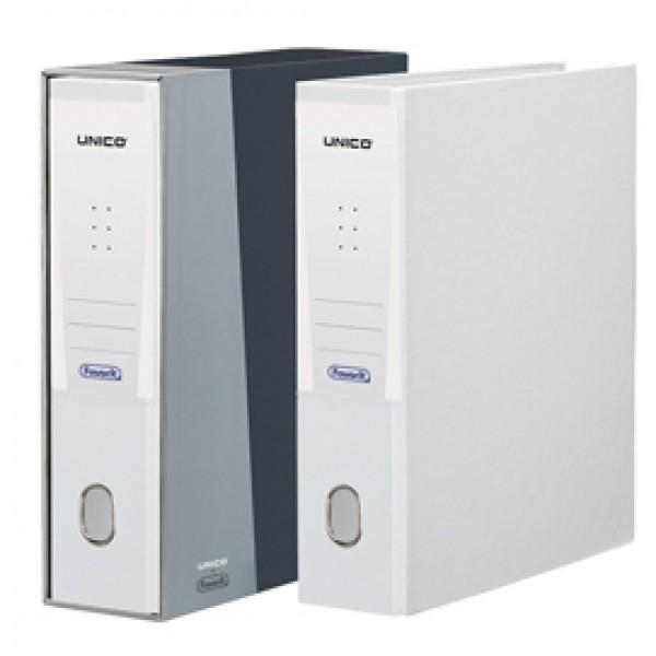 Registratore Unico - dorso 8 cm - protocollo 23x33 cm - bianco - Favorit