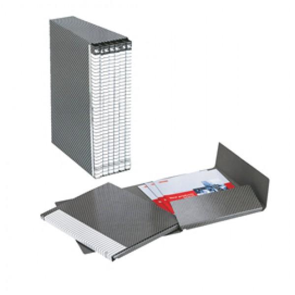 Gruppi di 6 cartelle Delso Line Esselte - Dorso 1,5 - 25x32 cm - bianco/grigio - 390954040