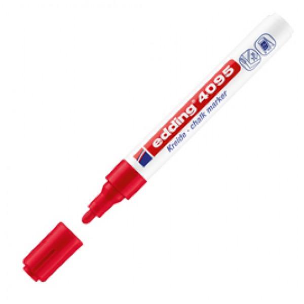 Marcatore Edding 4095  - punta tonda da 2,00-3,00mm - rosso - Edding