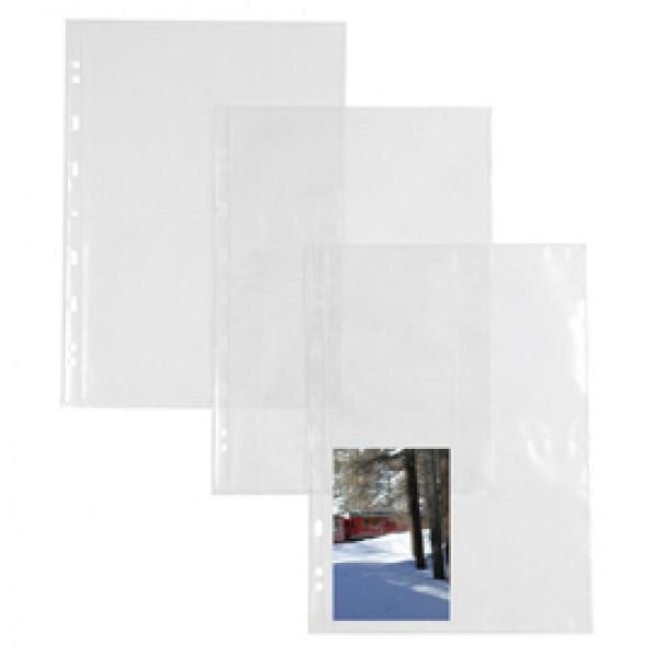 Buste forate Atla FT porta foto e cartoline - 8 spazi 10x15 cm - trasparente - Sei Rota - conf. 10 pezzi