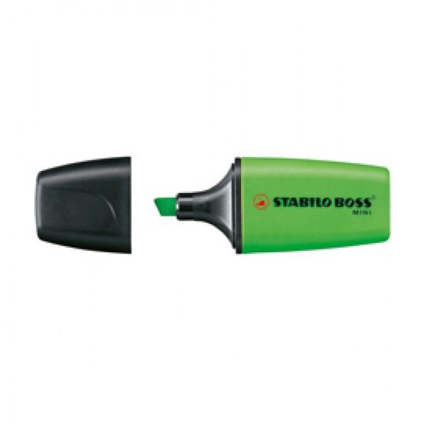 Evidenziatore Boss Mini - punta a scalpello - tratto 2,0-5,0mm - verde - Stabilo