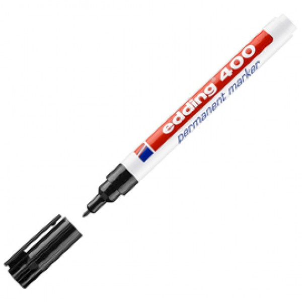 Marcatore permanente 400 - punta conica - tratto 2,00-4,00mm - nero - Edding