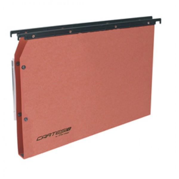 Cartella sospesa Cartesio Plus - armadio - interasse 33 cm - fondo U 50 mm - 32,6x28 cm - arancio - Bertesi