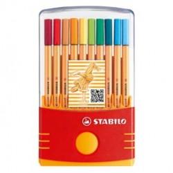 Fineliner Point 88 - colori assortiti - Stabilo - astuccio color Parade 20 pezzi