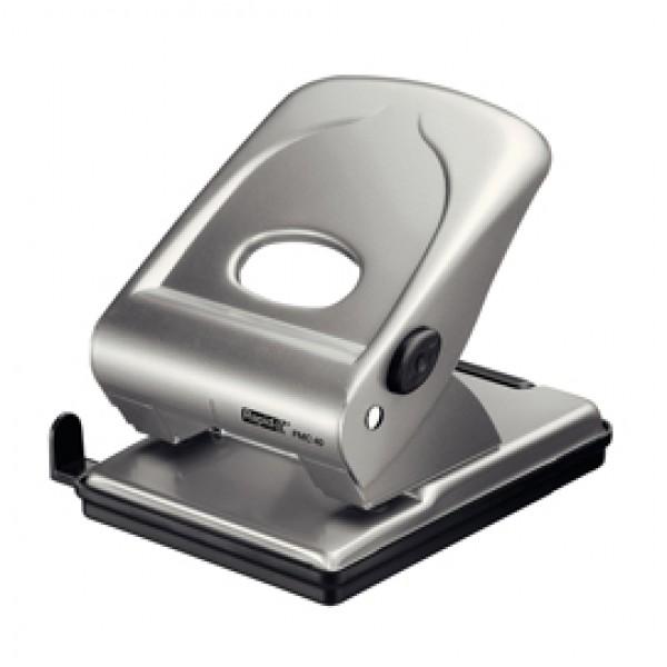 Perforatore 2 fori passo 8 FMC40 max 40fg argento RAPID