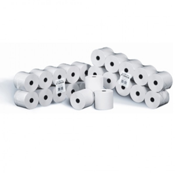 Rotolo per calcolatrici - cellulosa - 58 mm x 28 mt - diametro esterno 58 mm - 55 gr - anima 12 mm - Rotomar - blister 10 pezzi