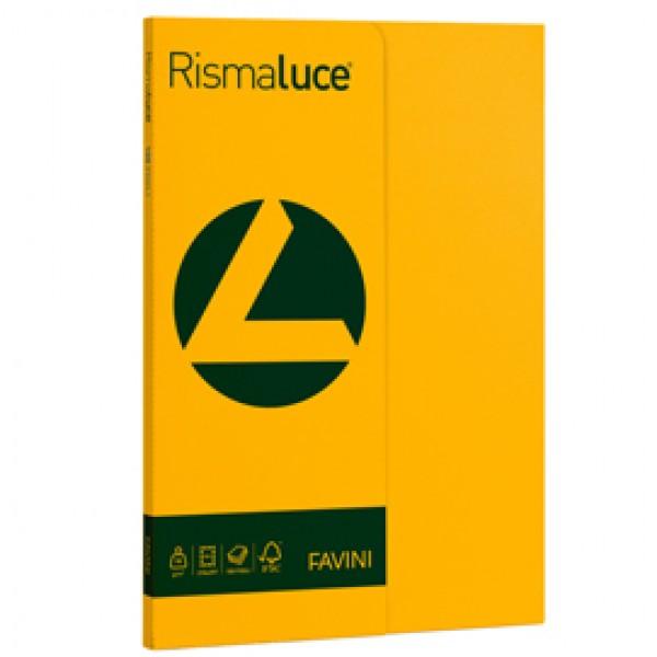 Carta RISMALUCE SMALL A4 90gr 100fg giallo oro 52 FAVINI
