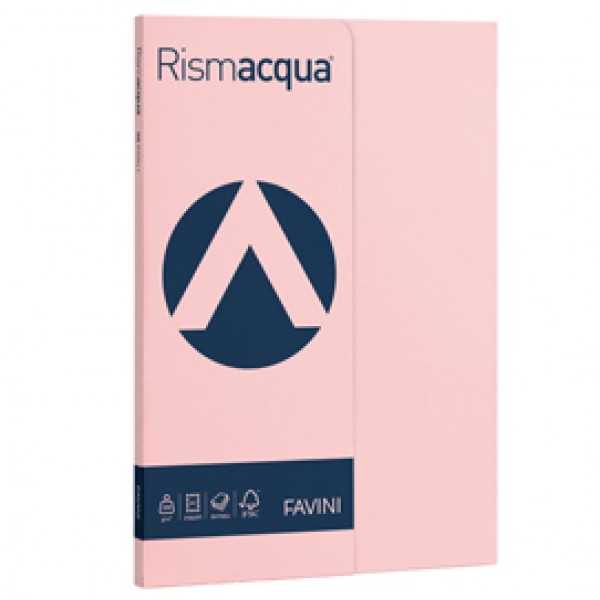 Carta RISMACQUA SMALL A4 200gr rosa 10 FAVINI (risma 50)