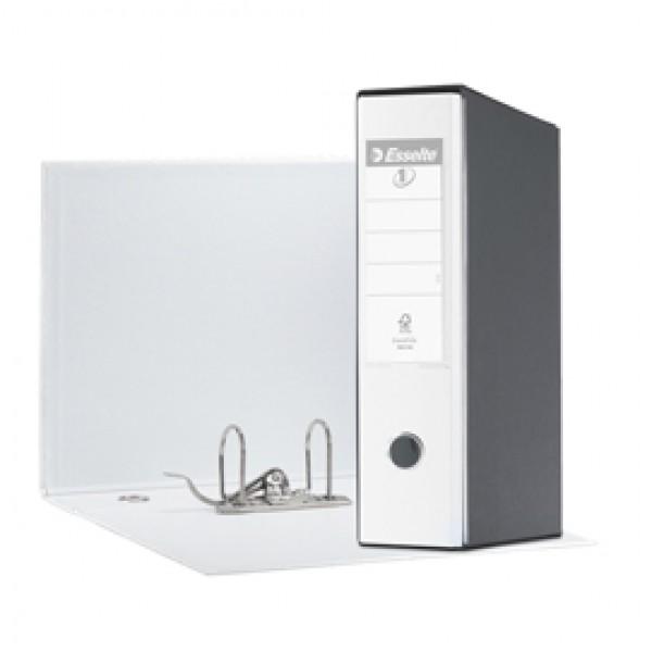Registratore Eurofile G55 - dorso 8 cm - protocollo 23x33 cm - bianco - Esselte
