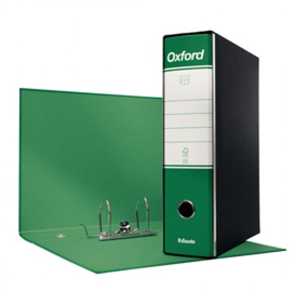 Registratore Oxford G85 - dorso 8 cm - protocollo 23x33 cm - verde - Esselte