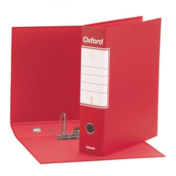 Registratore Oxford G83 - dorso 8 cm - commerciale 23x30 cm - rosso - Esselte