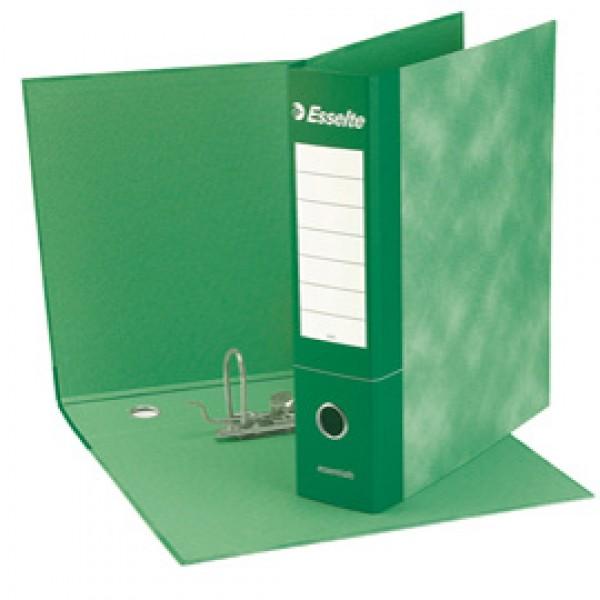 Registratore Essentials G75 - dorso 8 cm - protocollo 23x33 cm - verde - Esselte