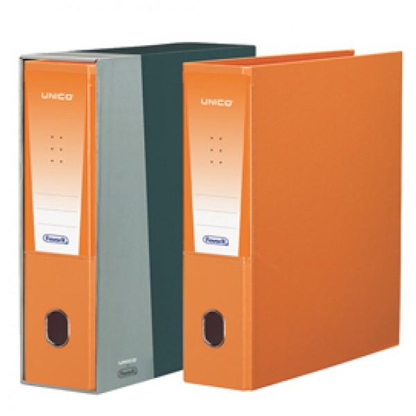 Registratore Unico - dorso 8 cm - protocollo 23x33 cm - arancio - Favorit