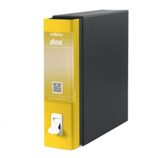 Registratore Dox 1 - dorso 8 cm - commerciale 23x29,7 cm - giallo - Esselte