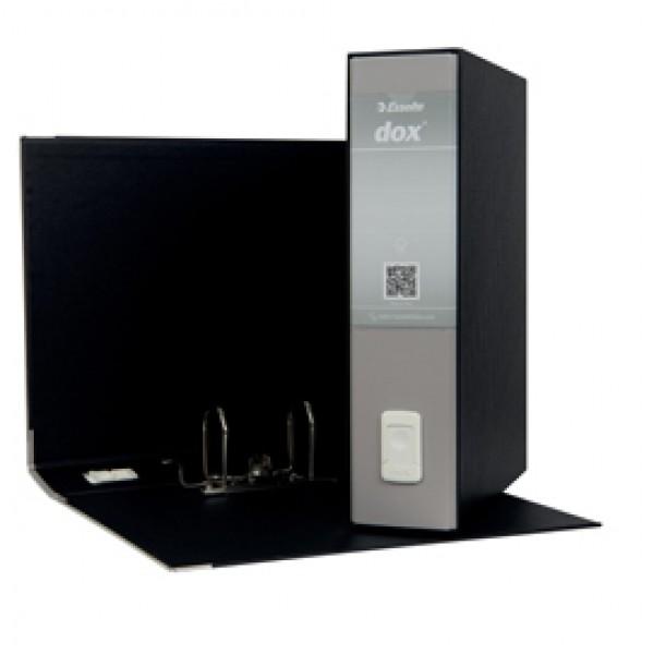 Registratore Dox 2 - dorso 8 cm - protocollo 23x34 cm - grigio chiaro - Esselte
