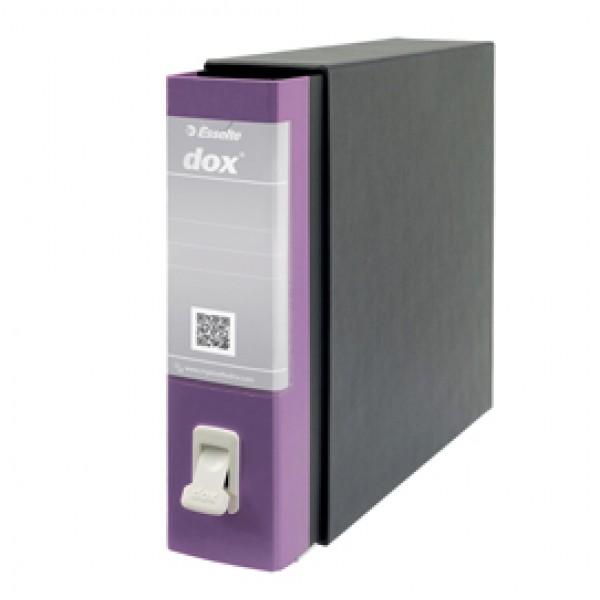 Registratore Dox 2 - dorso 8 cm - protocollo 23x34 cm - lilla - Esselte