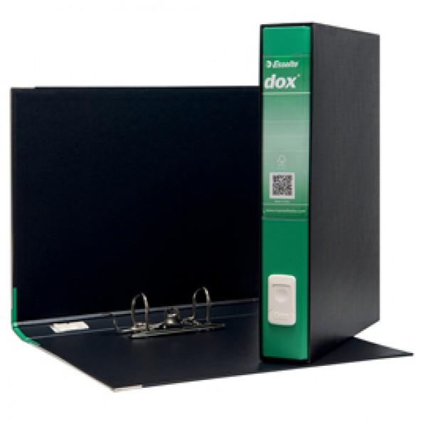 Registratore Dox 5 - dorso 5 cm - protocollo 23x34 cm - verde - Esselte