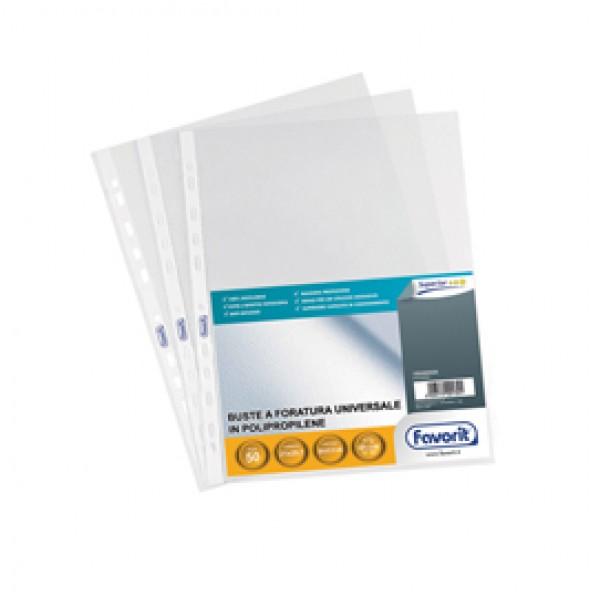 Buste forate Special PP - Superior - buccia - 21x29,7 cm - trasparente - Favorit - conf. 50 pezzi