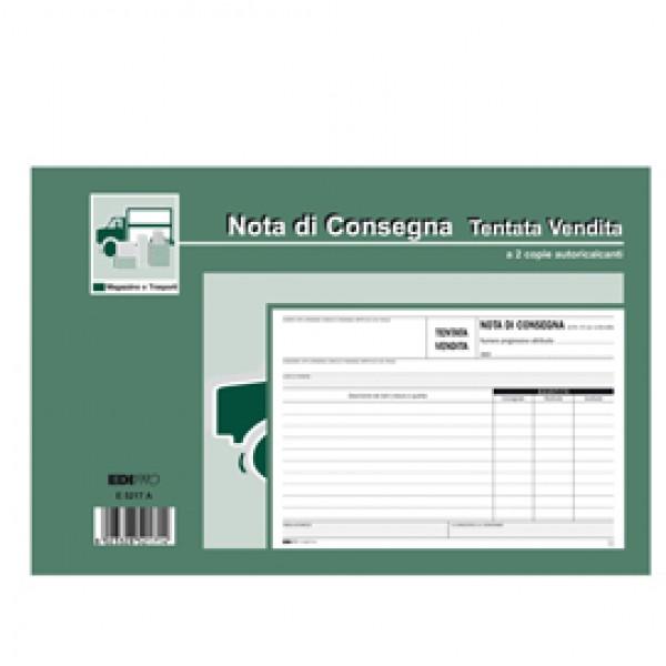 Blocco nota consegna tentata vendita - 50/50 fogli autoricalcanti - 15 x 23cm - Edipro